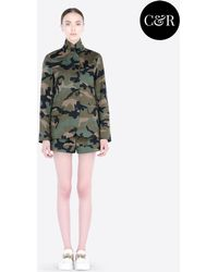 Valentino Cotton Sahara Jacket With Camouflage Print - Lyst