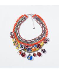 Zara Multicolor Chain Necklace - Lyst