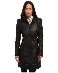 Pierre Balmain Long Leather Down Jacket - Lyst