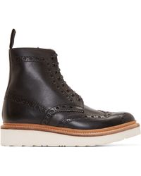 Foot The Coacher - Black Leather Fred Boots - Lyst