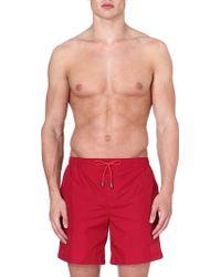 Hugo Boss Barracuda Logo Swim Shorts Red - Lyst