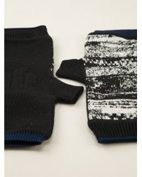 Stone Island Shadow Project Abstract Jacquard Fingerless Gloves - Lyst