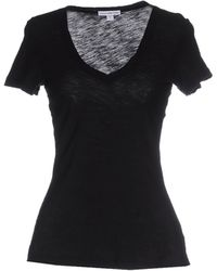 James Perse   black T-shirt   Lyst
