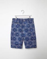 Junya Watanabe | Indigo Print Shorts | Lyst