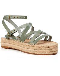 Splendid Open Toe Flat Platform Espadrille Sandals - Erin - Lyst
