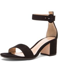 Gianvito Rossi Ankle Strap Suede Heels - Lyst