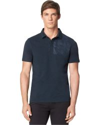 Calvin Klein Jeans Graphic Heathered Polo - Lyst