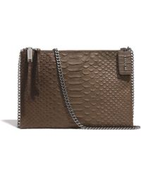 Coach Zip Top Crossbody in Python Embossed Leather - Lyst