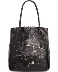 Patricia Nash Tooled Cavo North South Tote - Lyst
