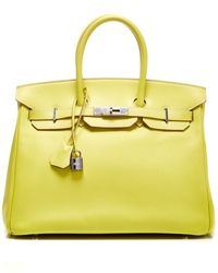 Heritage Auctions Special Collection Hermes 35Cm Lime & Gris Perle Candy Collection Epsom Birkin - Lyst