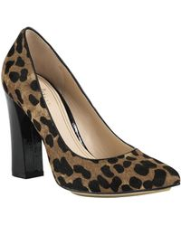 Cole Haan Chelsea Leopard Printed Haircalf Pumps - Lyst