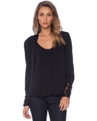 Milly Dahlia Lace Lucien Blouse - Lyst
