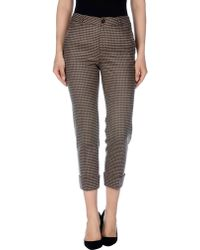 Jucca Casual Pants brown - Lyst