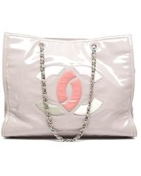 Chanel Pre-owned Patent Lipstick Tote Bag - Lyst