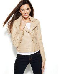Michael Kors Dual-Zip Leather Moto Jacket - Lyst
