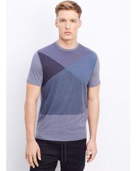 Vince Abstract Blocks Graphic Tee - Lyst