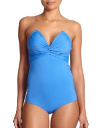 Zimmermann One-Piece Twisted Swimsuit - Lyst