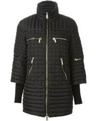DSquared2 Black Padded Coat - Lyst