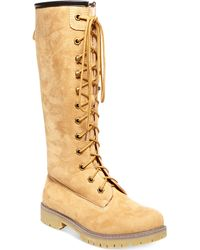 Madden Girl Yumi Tall Shaft Utility Boots - Lyst