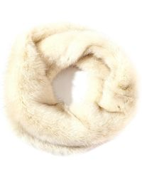 Asos Faux Fur Infinity Scarf with Twist Front - Lyst