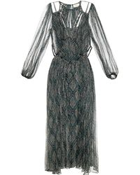 Zimmermann Riot Web Silk-Georgette Dress - Lyst