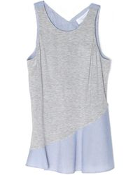 Thakoon Addition Striped Jersey Combo Tank - Lyst