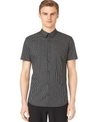 Calvin Klein Slim Fit Plainweave Linear Check Sport Shirt - Lyst