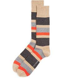 Cole Haan - Stripe Dress Socks - Lyst