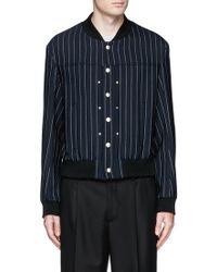 Maison Margiela | Pinstripe Wool Twill Teddy Jacket | Lyst