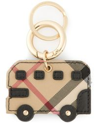 Burberry Checked Bus Keyring - Lyst
