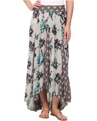 Free People Show You Off Skirt gray - Lyst
