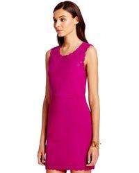 Diane von Furstenberg Dvf Caralyn Cut Out A-Line Dress purple - Lyst