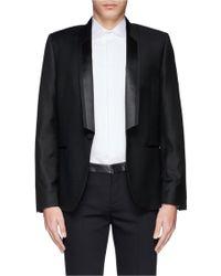 Paul Smith Satin Shawl Lapel Wool Evening Jacket black - Lyst