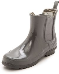 Sperry Top-sider Starling Chelsea Rain Booties  Charcoal - Lyst