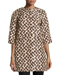 RED Valentino Floralleopardprint Faille Overcoat - Lyst