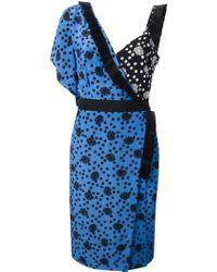 Emanuel Ungaro Dotted Floral Printed Dress - Lyst