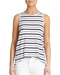 Feel The Piece Striped Open-Back Top - Lyst