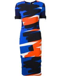 Mugler Brush Stroke Pencil Dress - Lyst