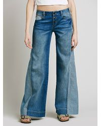 Free People Womens Sidney Pieced Flare - Lyst