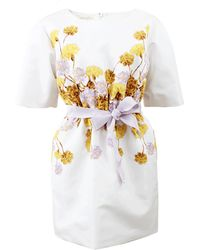 Giambattista Valli Floral Print Dress - Lyst