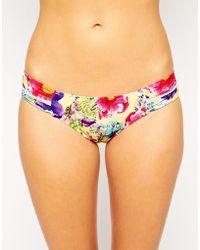 Seafolly Paradiso Ruched Side Bikini Bottom - Lyst