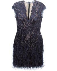 Matthew Williamson Ostrich Feather-Trim Embellished Dress - Lyst