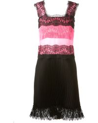 Christopher Kane Lace And Tulle Pleated Dress - Lyst
