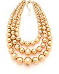Adia Kibur - Layered Ball Necklace - Lyst