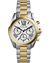 Michael Kors Bradshaw Mini Twotone Stainless Steel Watch - Lyst