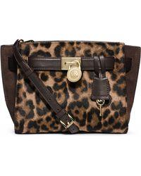MICHAEL Michael Kors Hamilton Leather And Hair Calf Traveler Messenger Bag - Lyst