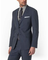Todd Snyder Slim Stripe Mayfair Fit Suit In Navy - Lyst