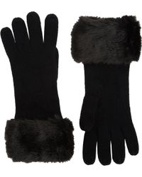 Barneys New York Faux Furcuff Gloves - Lyst