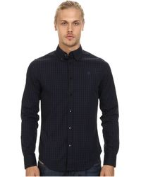 G-star Raw Core Btd Ls Shirt in Comfort Embargo Check Police Blue - Lyst