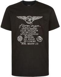 Diesel Flying Cougar Print T-Shirt - Lyst